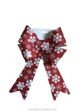 small christmas fabric ribbon bow , PVC bowknot