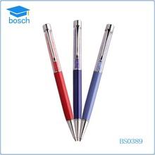 Colored promotional thin metal ball pen metal cross pen (4 colors)