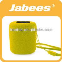 Jabees BOB Wireless Mini Bluetooth Speaker Portable Sponge Cover With Audio Line-in