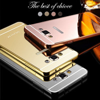 2015 new products metal frame mirror back cover cell phone case for Sumsung