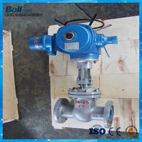 Rising stem design floating flexible electric gate valve DN200