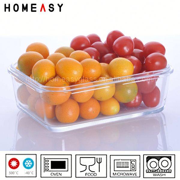 alto borosilicate ingrosso microonde vetro lunch box