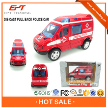 Wholesale 1 64 diecast pull back police car for kids