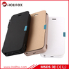 High capacity backup battery case for iPhone 5 5s with smart PU Cover