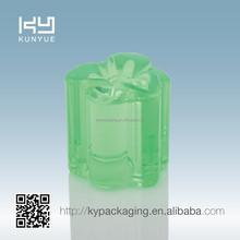 green flower shape K resin cap for perfume bottle