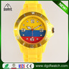 Wholesale colorful silicone band different national flag watches from china supplier