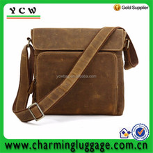 Genuine Leather Cowhide Vintage Brown Satchel Shoulder Messenger Bags