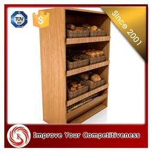 Glass / wood bread display cabinet, custom bread display cabinet for sweet shop