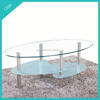 2015 modern design glass top costco coffee table
