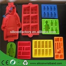 estupendo 100% de grado alimentario lego en forma de molde de <span class=keywords><strong>pastel</strong></span> de silicona, robot molde de <span class=keywords><strong>pastel</strong></span> de silicona