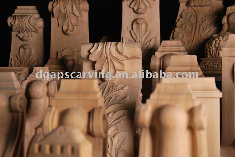 Madera maciza tallada europea