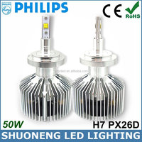 High Power 25W 3000lm 6000K 11V 30V Cars Auto Parts PX26D H7 LED Headlight