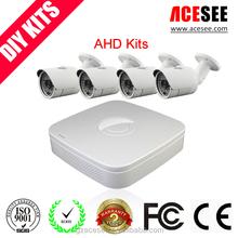 Economical security camera set 4pcs 960P AHD cameras&H 264 AHD DVR CCTV system