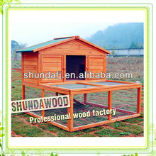 SDR06 wooden 2 story rabbit hutches with large playrun