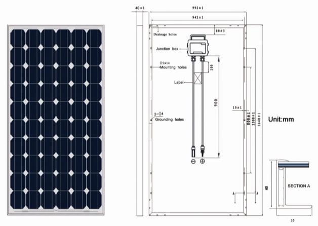 250W Solar panel&panel solar with TUV,IEC,CEC,CE,ISO