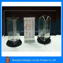 Rotating Acrylic table stand menu holder, personalized acrylic menu holder