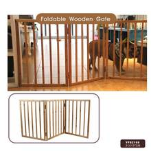 Factory Direct Foldable Indoor Wooden Pet Gate