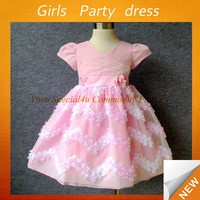 New style girls birthday party lace dresses pink princess frocks little girl wedding dress new fashion dresses SPSY-772