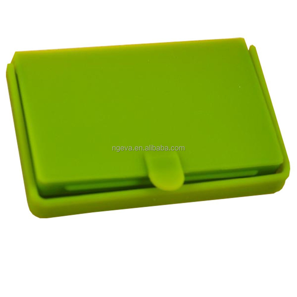 Promotional Update Silicone Business Card Storage Box