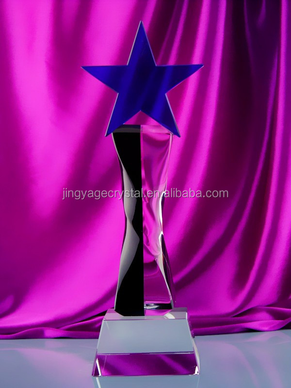 Top Sale Crystal Star Trophy For Table Decoration