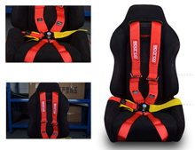 """6 Point Snap-On 3"""" Racing Seat Belt Harness (Red)"""