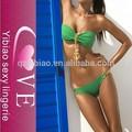 Venta al por mayor 2015 verde push- up conjunto bikini traje de baño fresco para las mujeres maduras