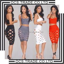 2015 New Arrival Fashion 2 Pieces Sleeveless Cheap Sexy Women Wholesale bandage dress