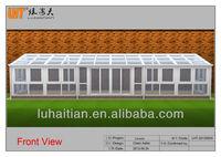 PVC and aluminum glass portable sun room
