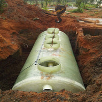 fiberglass water filter tank /fiberglass septic tank/ high quanlity septic tank