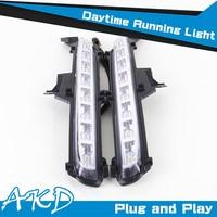 AKD Car Styling New K2 DRL 2014-2015 Rio Led DRL K2 LED Daytime Running Light Good Quality LED Fog lamp