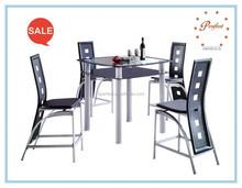 Venda quente e de vidro temperado e elegante conjuntos de sala de jantar