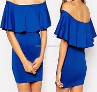 Sexy Ruffled Off-shoulder Mini Body-con Dresses