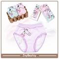 Zpg003 tarja menina underwear 100% crianças de algodão calcinha