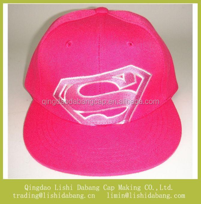 Flat Brim Caps For Girls Flat Brim Snapback Cap Pink