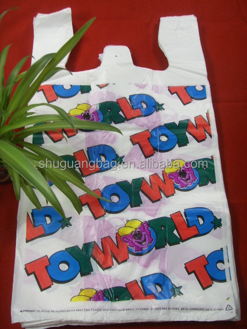 2011 Fashion Color Plastic T-shirt Bag