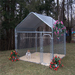 High quality used galvanized / pvc coated cheap chain link dog kennels