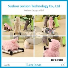 Cute sheep cartoon desktop phone holder for iphone 6plus