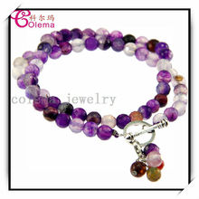 Infinity Beautiful Wrap Bracelet Crystal Gemstone Bead Bracelet XLP43