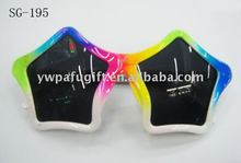 colorful star party glasses
