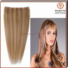 Hot Sell Mixed Color Remy Hair Flip In/Halo Hair Extensions