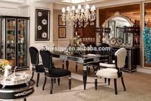 Madeira maciça neoclássico da sala de jantar conjunto mesa n04-058