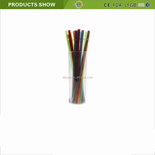 Hard plastic PP Straight drinking straw with cover