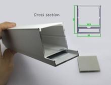 la puissance élevée led de grande taille slideable profil en aluminium avec le pmma pmma diffuseur opale mat pour couvrir led bande de lumière