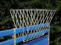 Calf rack feeder on calf box wall