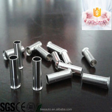 Copper material non insulated cord end terminals,naked tube terminal