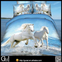 Reactive printing 3D bedding set, 3D comforter set china supplier bed linen
