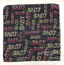 2015 fashion pattern with love letter print scarf