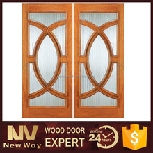 Sliding wood door interior half door design