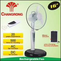 solar fan led fan stand fan for home use 8hours working time