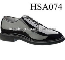 high shiny leather army officer footwear Bates elites shoes for men